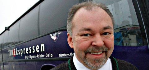 MIDLERTIDIG ENDRING: Asle Walter i Nettbuss varsler endringer på Nettbuss-avgangene vestenfor Elvestad.ARKIVFOTO