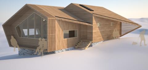 HYTTEPROSJEKT:  Luster Turlag treng vel ein million kroner raskt for å kunne realisera ei ubetjent hytte på Tungestølen.