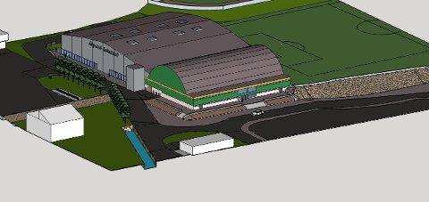 En ny flerbrukshall er planlagt bygd sammen med Strandahallen.