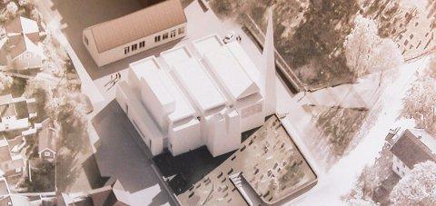 NY KIRKE: «Reis opp» vant arkitektkonkurransen for nye Østre Porsgrunn kirke. Riksantikvaren ville ha en kopi av den gamle kirken.