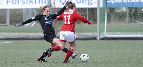 I LEDELSEN: Mari Fuglseth Aakre sendte Urædd opp i 0-1, men det holdt ikke.FOTO: KRISTIAN HOLTAN