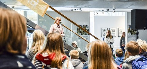 ÅPNET: Ordfører Hedda Foss Five fikk den store ære av og kunne åpne selve litteraturfestivalen. Foto: Titus Burgerhoudt