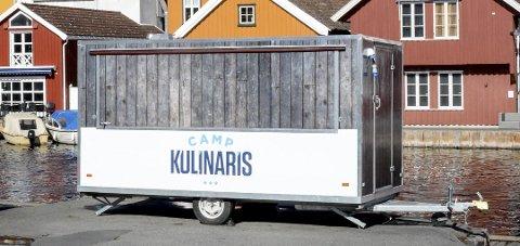 Hamburger-vogna: Fra denne mobile vogna skal det serveres matretter som deltakerne i Camp Kulinaris lager.