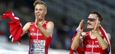 KLAR: Filip Ingebrigtsen er klar for NM i terrengløp. Det samme er bror Henrik Ingebrigtsen. FOTO: NTB
