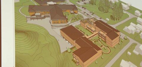 Nye skisser: Det har kommet nye skisser med en lavere pris for nye Nome sjukeheim.