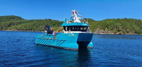 Sletta Verft overleverer en hybrid arbeidskatamaran til Fylkesnes Fisk.