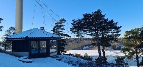SLIK BLIR DET MED MONOTÅRNET: Med visualiseringssystemet kan Vestfold og Telemark fylkeskommunen vise naboene hvordan brua vil se ut.