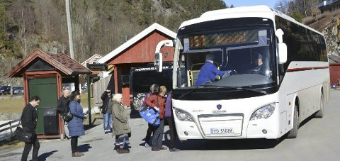 NY bussrute: De som reiser med buss fra Tvedestrand mot Arendal om morgenen har fått et bedre tilbud.Arkivfoto