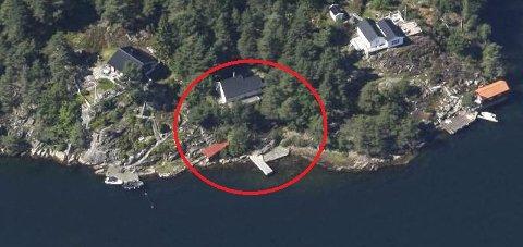 Sjønært: Fylkesmannen er ikke positiv til en sjøbod på 12 kvadratmeter på denne sjøeiendommen.