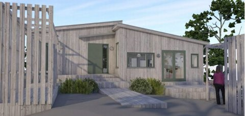 Naturfarger: Det er Arki Stray AS, ved Nina Beate Stray, som har utformet den nye boligen som Tvedestrand kommune nå sier ja til.