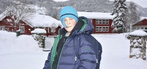 Kjekt: Det er kjekt at vi har vår egen skole i Begnadalen, synes 6.-klassingen Harald Røyseth Ruud.