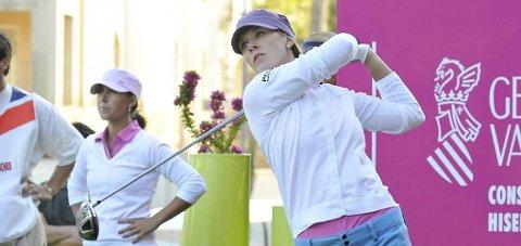 OL-UTØVER: Marianne Skarpnord skal delta for Norge i OL. I sommer har hun trent på golfbanen i Son. ARKIVBILDE: ANB