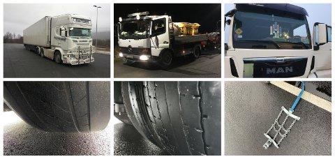 KONTROLLER: Statens vegvesen er stadig ute med kontroller langs vegene. Dette er noen av transportene som ble stanset på riksveg 3/25 i Løten og Alvdal onsdag.