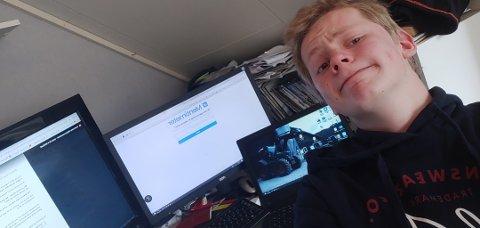 KVINESDAL: Leder Ole André Helle i ungdomsrådet i Kvinesdal