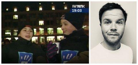 To gutter var blant de 40.000 som møtte opp for å vise sin avsky mot det rasistisk motiverte drapet på Benjamin Hermansen i 2001. Nå vil dokumentarist Marius Lie komme i kontakt med de to guttene.