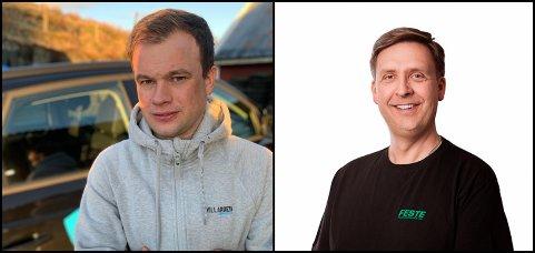 Håvard Villanger frå Villanger Trafikkskole AS og Øyvind Feste frå Feste Trafikkskole AS.