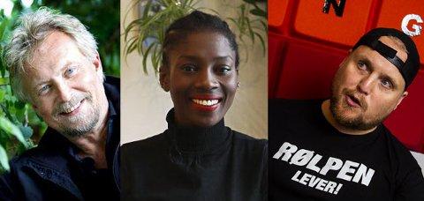 STØTTER AKSJON: Dennis Storhøi, Sonja Wanda og Stian Thorbjørnsen er blant de lokale kjendisene som har latt Instagram gå i svart i solidaritet med den afroamerikanske befolkningen i USA.