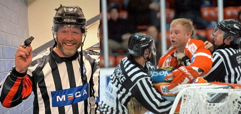 Jörgen Wahlberg var en tøffing og hardhaus på isen som spiller, og kom gjerne i klammeri med både spillere og dommere. Nå blir han selv hockeydommer. - Det er utrolig gøy å dømme, sier han.