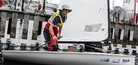 VANT SJU LØP: Lars Johan Brodtkorb sikret seg sin tredje seier i Kieler Woche.