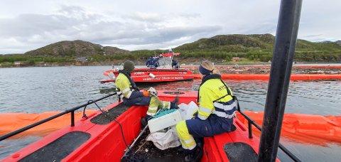 VIKTIG REDSKAP: Hammerfest Brann og Redning har en redningsbåt som IUA Vest-Finnmark disponerer. Den har vært viktig i arbeidet med å rydde opp etter kvikkleireskredet i Alta.