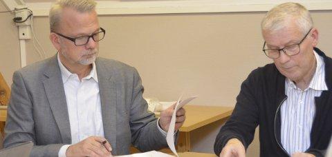Generalforsamling: Daglig leder Geir Elsebutangen og kommunalsjef Åge Aashamar under generalforsamlingen.