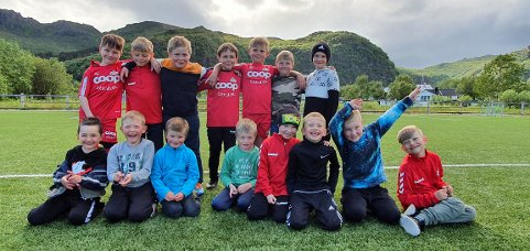 Stamsund fotball her representert ved Mini 1 har over 100 barn som er med i fotballgruppa.