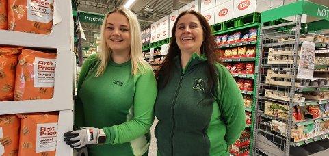 Marina Thomassen og Solbjørg Nagy gleder seg til åpning av den nye Kiwi-butikken på Leknes.