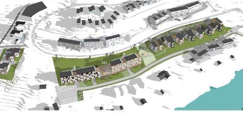 NYTT: Slik blir siste del av det store utbyggingsprosjektet i Hamna. Skisse: Blå arkitektur