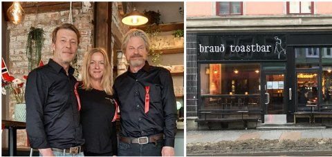 ÅPNET: Dag Schøyen (til venstre) har åpnet toastbar i Oslo sammen med Laila Kristin Ødegård og Erik Netskar.