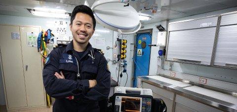 Lam Van Nguyen var medisinsk fagleder og hadde ansvaret for sykestuen om bord på KNM «Helge Ingstad» da båten kolliderte natt til torsdag.