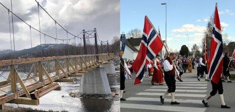 FLAGGHELG: 17.mai-komiteen, Nebybruas Venner og Tynset kommune oppfordrer tynsetingene til å flagge hele helga. Lørdag er det digitial åpning av Neby bru. Det tradisjonelle folketoget utgår i år, men det blir taler, korps og kjøretøyopptog.