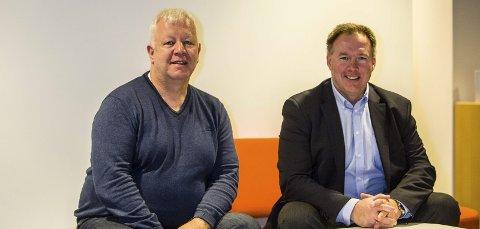 Ståle Stormark, forretningsutviklar i Connect Vest og Børge Brundtland, dagleg leiar i IUV håpar dei vil føre gründerar og investorar saman, og at det gjennom dette vil bli invistert meir i ulike gründerverksemder i Nordhordland.