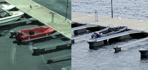Båten til venstre ble erstattet av båten til høyre.