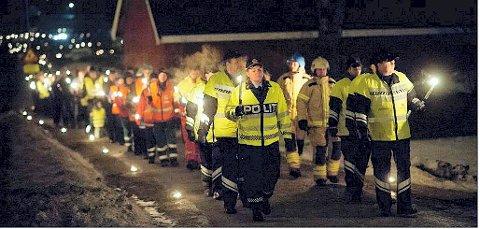 MINNES OFRENE: «Lys til ettertanke» er en årlig markering for å minnes trafikkofrene i Vestfold.