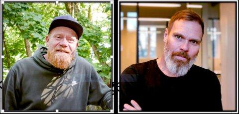 Christoffer Rød (t.v.) og Gard Mortensen har søkt på den ledige stillingen som kulturhusleder i Moss.