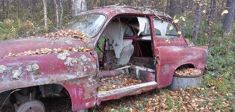 MYSTERIUM: Bilekspertene kan ikke identifisere denne modellen ut ifra bildet. Vraket mangler i hvert fall seter og hjul.