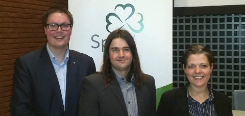 SIER NEI: Senterpartiet vil ikke bruke mer tid, penger og ressurser på den meningsløse regionen Viken, skriver Anders Graven (i midten) og Marianne Røed. Morten Vollset til høyre.