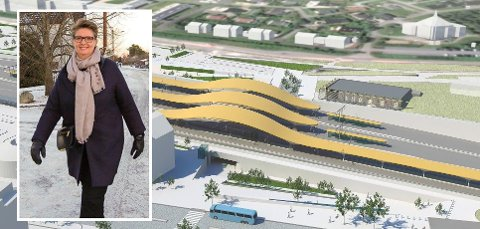 Ski stasjon: Ordfører Hanne Opdan i Ski har vært bekymret for fremdriften på Follobaneprosjektet.