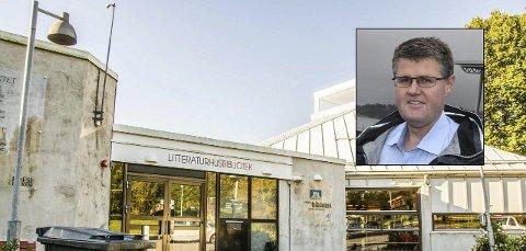 Trekker seg fra politikken: Kommunestyrerepresentant Rolf Kristian Gjerstad (innfelt, H) trekker seg fra alle verv etter kritikken han får i en rapport fra valgmedarbeidere ved Larvik bibliotek.foto: Lasse Nordheim/Montasje