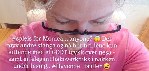 GODT: Hun så ikke godt, men alt endte godt da Monica Mortensen mistet brillene.