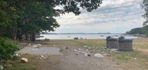 SØPPEL: – Det er skremmende at folk går fra søppelet sitt på denne måten.