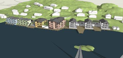 Disse boligplanene for Brunsvika får klar melding fra rådmannen: Dette blir for massivt. Illustrasjon: Norconsult.