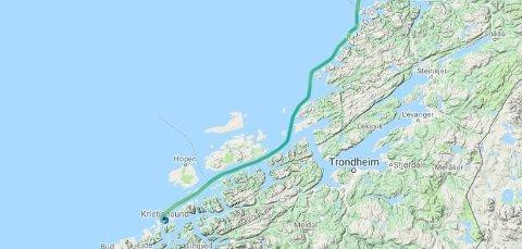 MS «Spitsbergen» sløyfet Trondheim.