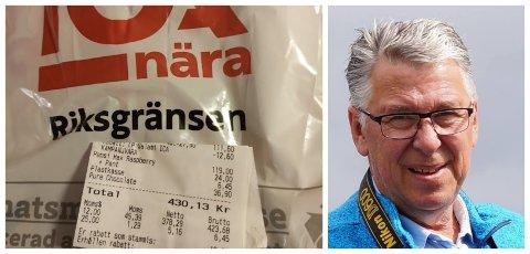 SJOKKOPPDAGELSE: Da Jarle Jakobsen fant kvitteringen i denne posen fikk han sjokk. – Det er helt horribelt, sier han.