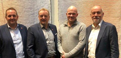 MER MAKT TIL FJELLSTYRENE: Frp vil styrke fjellstyrene. fra venstre; Gisle Saudland, Terje Halleland, Gunnar Singsaas (NFS), Morten Ørsal Johansen