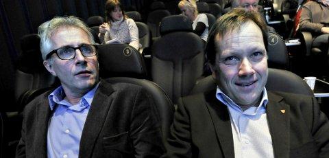 LEDERNE: Lasse Hansen (til høyre) var rådmann da varslingssakene i teknisk drift startet. Ole Petter Finess «quot;arvet»quot; de uløste konfliktene da han overtok jobben sommeren 2014. Hansen er den av de to som får sterkest kritkk av granskerne. Mens Finess nå forhandler om sin avgang, gikk Hansen til toppjobb som administrerende direktør i KS.