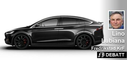 Lino Lubiana nevner Tesla som en bil som sliter ekstra på veiene.