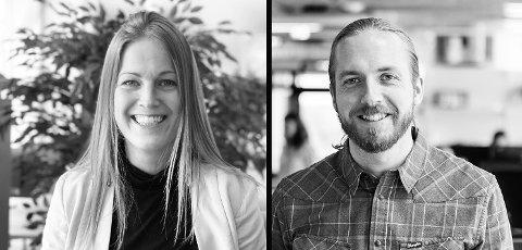 HALDEN-DUO: Alice Snorradóttir og Simon Øien i Mad Arkitekter mener at Halden har potensial til å bli en enda vakrere by med et enda mer fortettet sentrum ved å fylle utnytt e mulighetene som ligger i de mange åpne plassene i sentrum.