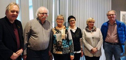 Styret i Helgeland Parkinsonforening. Fra venstre Stein Ivar Mortensen, Arne Drevland, Anne-Grethe Seljevoll, Torhild Sørensen, Tone Anita Lund og Arne Otting.