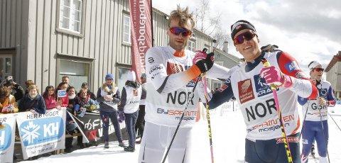 KLÆBO/NORTHUG: Johannes Høsflot Klæbo og Petter Northug var stjernene i årets arrangement, og Klæbo ga størst utslag i medieoppmerksomhet. Blant annet så 100.000 hans vlog fra Mosjøen.